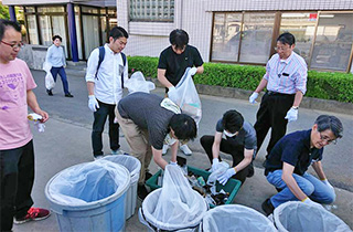 環境整備実習編:JR南与野駅前清掃